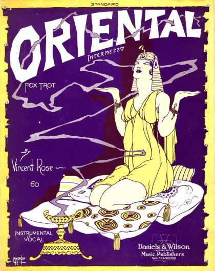 Sheet Music - Oriental; Some day in Araby; Intermezzo