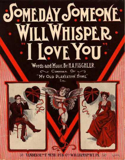 Sheet Music - Someday someone will whisper I love you