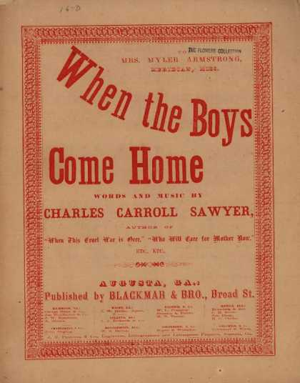 Sheet Music - When the boys come home