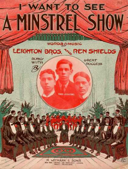 Sheet Music - I want to see a minstrel show