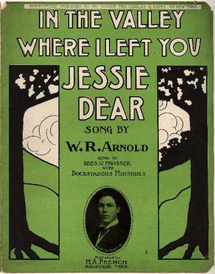 Sheet Music - In the valley where I left you Jessie dear
