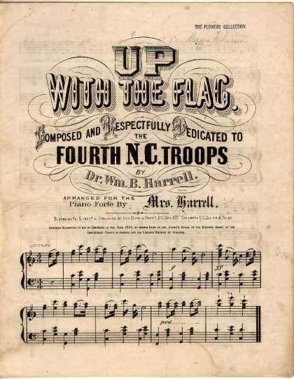 Sheet Music - Up with the flag
