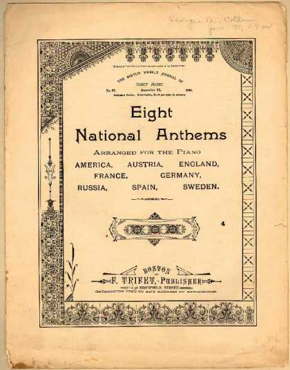 Sheet Music - Eight national anthems arranged for the piano