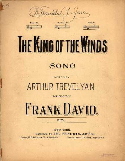 Sheet Music - The king of the winds