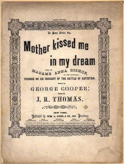 Sheet Music - Mother kissed me in my dream