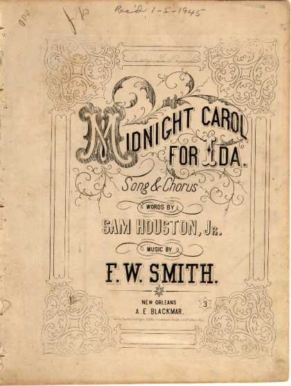 Sheet Music - Midnight carol for Ida