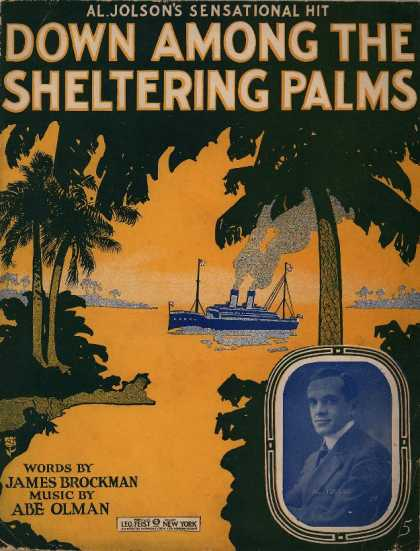Sheet Music - Down among the sheltering palms
