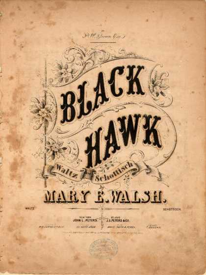 Sheet Music - Black hawk waltz