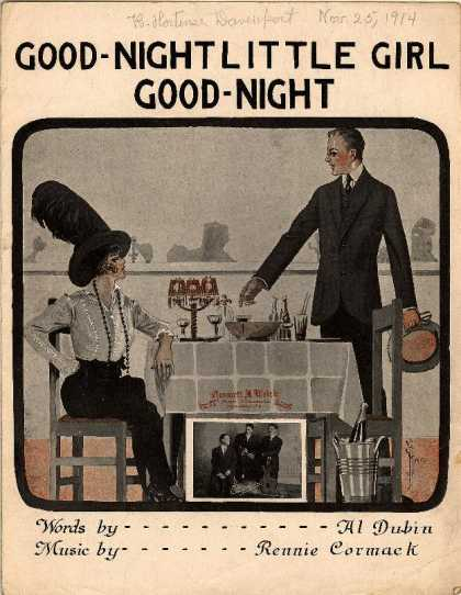 Sheet Music - Good night little girl, good night