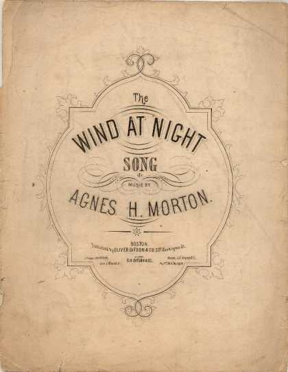 Sheet Music - Wind at night; Words from Temple bar