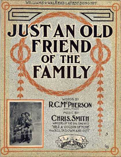 Sheet Music - Just an old friend of the family
