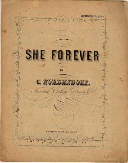 Sheet Music - She forever