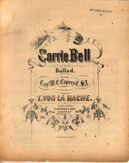 Sheet Music - Carrie Bell