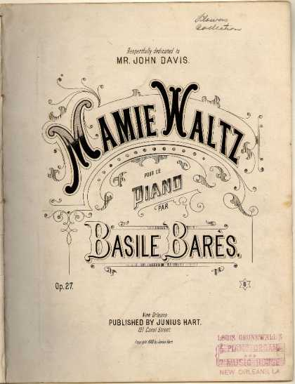 Sheet Music - Mamie Waltz; Op. 27