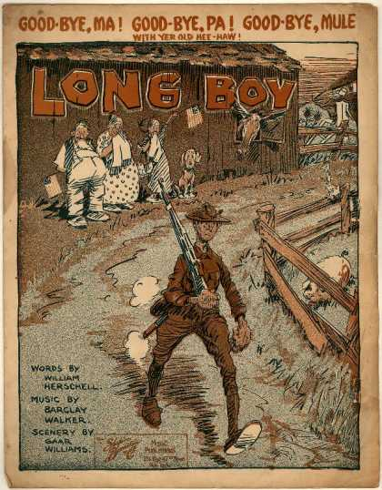 Sheet Music - Long boy; Good-bye, Ma! Good-bye, Pa! Good-bye, mule