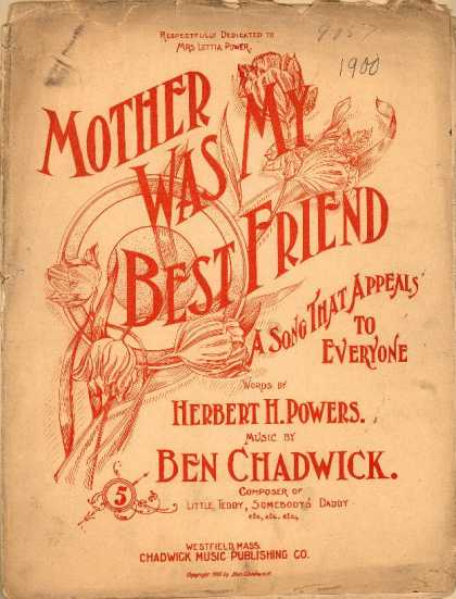 Sheet Music - Mother was my best friend