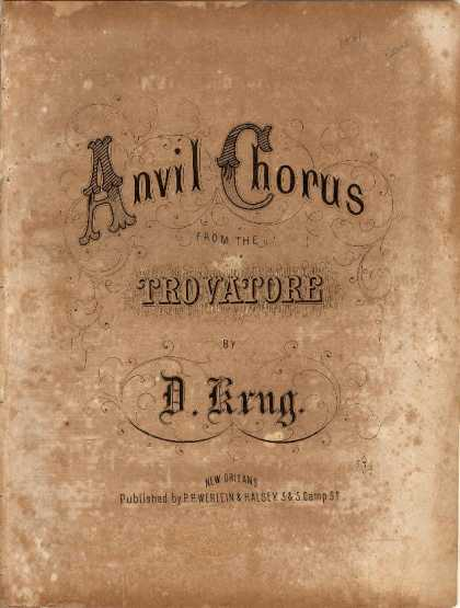 Sheet Music - Anvil Chorus; Trovatore