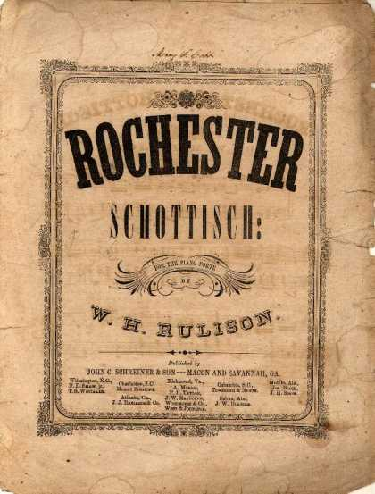 Sheet Music - Rochester schottisch