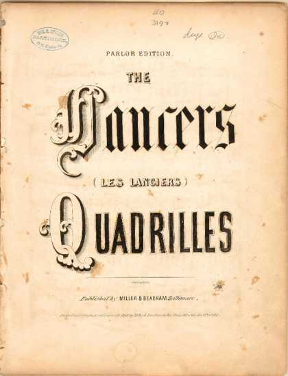 Sheet Music - The lancers quadrilles; Les Lanciers quadrilles