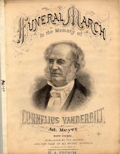 Sheet Music - Funeral march to the memory of Cornelius Vanderbilt