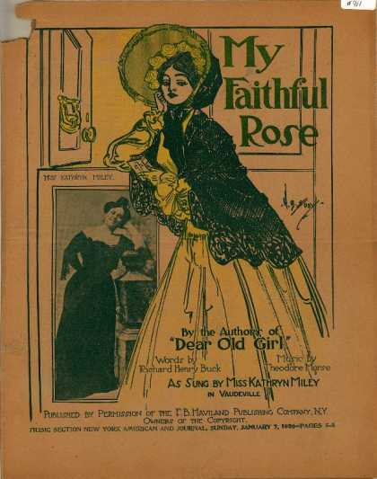 Sheet Music - My faithful Rose
