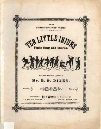 Sheet Music - Ten little injuns