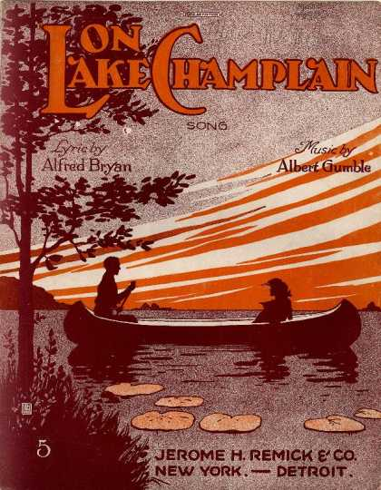Sheet Music - On Lake Champlain