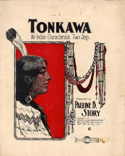 Sheet Music - Tonkawa, an Indian characteristic two-step