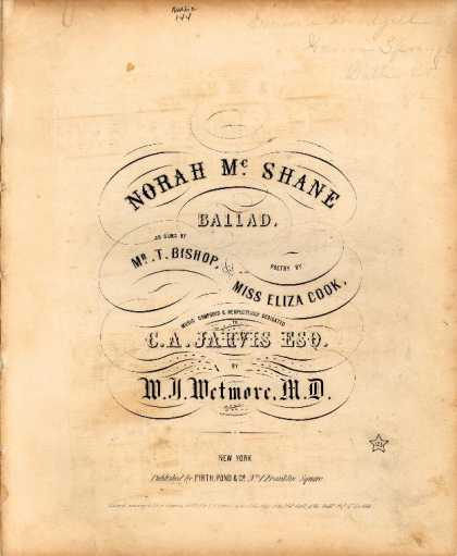 Sheet Music - Norah McShane