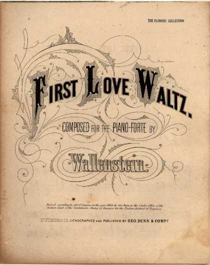 Sheet Music - First love waltz