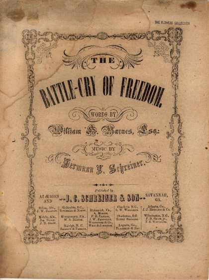 Sheet Music - Battle-cry of freedom