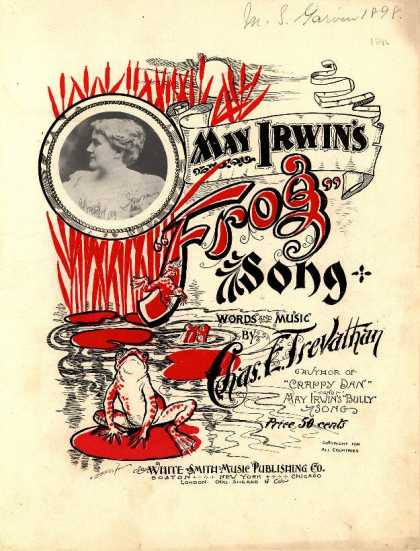Sheet Music - May Irwin's Frog song