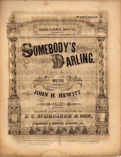 Sheet Music - Somebody's darling