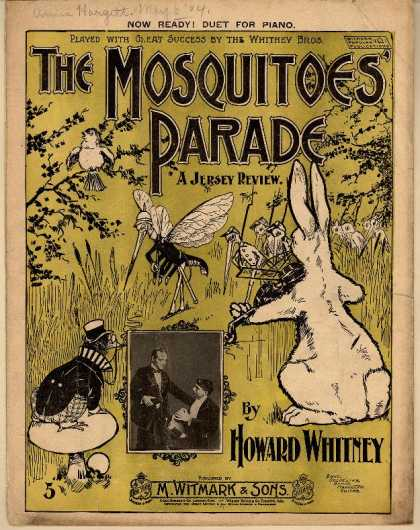 Sheet Music - The mosquitoes' parade; A Jersey review
