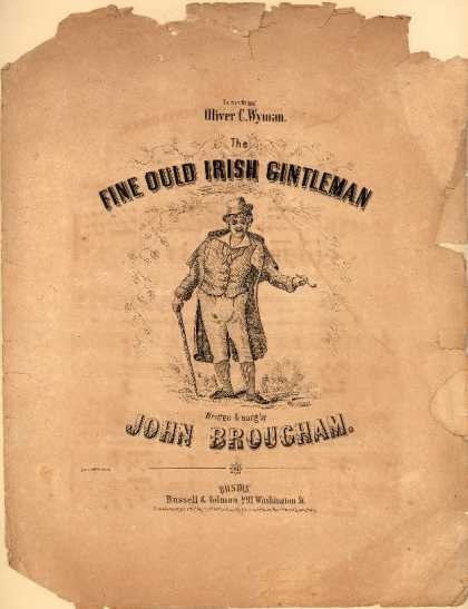 Sheet Music - The fine ould Irish gintleman
