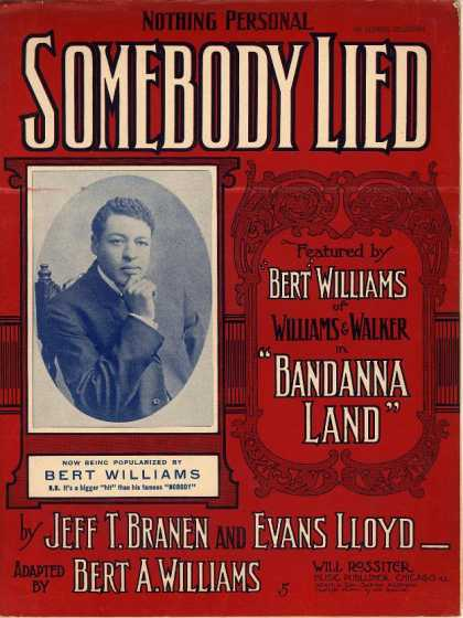 Sheet Music - Somebody lied; Nothing personal; Bandanna land