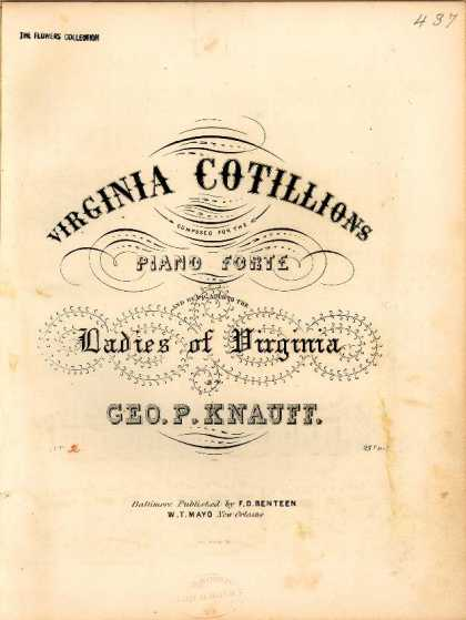 Sheet Music - Grand round; Petersburg; March cotillion; Old point cotillion; Butterfly; Bird o