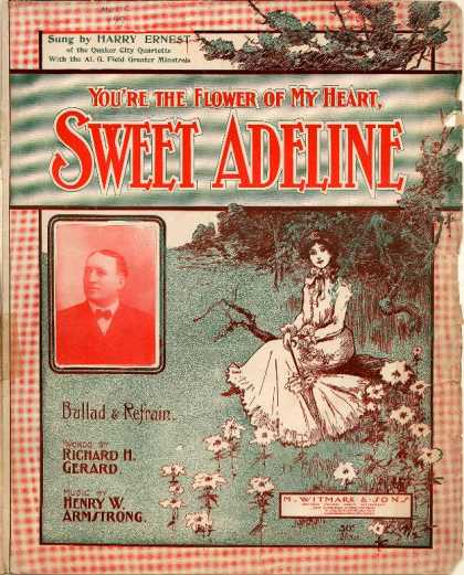 Sheet Music - You're the flower of my heart, Sweet Adeline