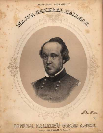 Sheet Music - General Halleck's grand march; Op. 931