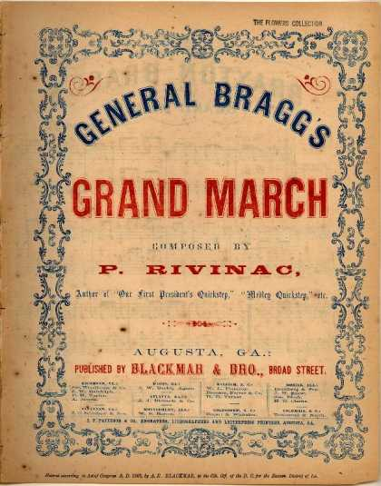 Sheet Music - General Bragg's grand march