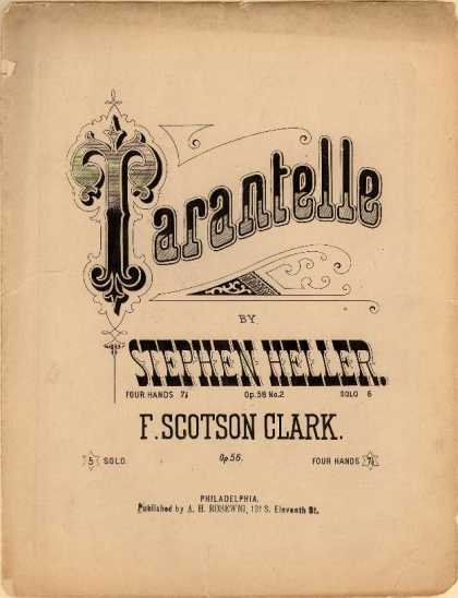 Sheet Music - Tarantelle; Op. 58, no. 2