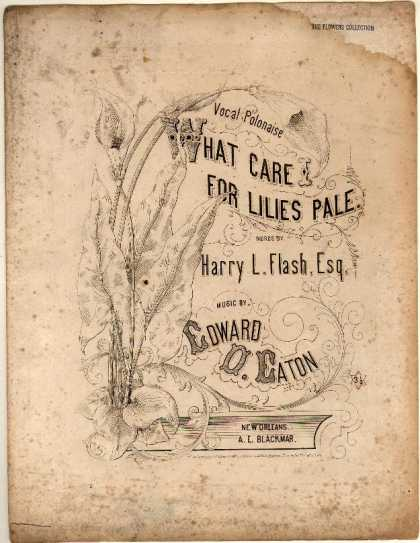 Sheet Music - What care I for lilies pale; Vocal polonaise