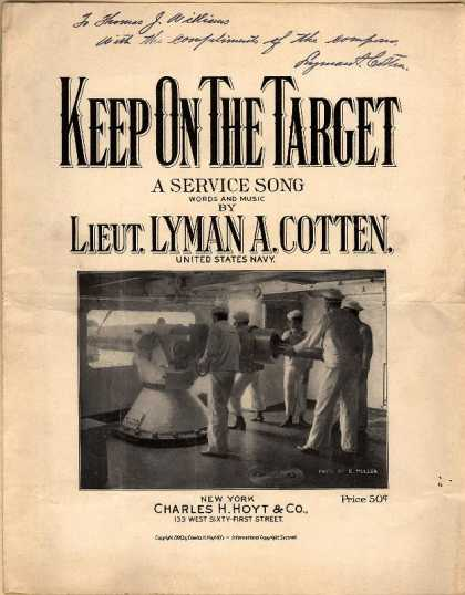 Sheet Music - Keep on the target; A service song