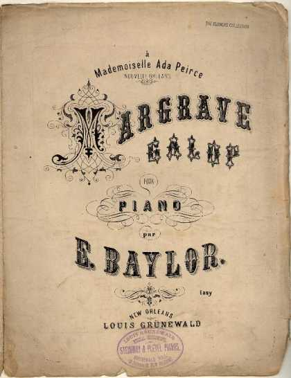 Sheet Music - Margrave galop