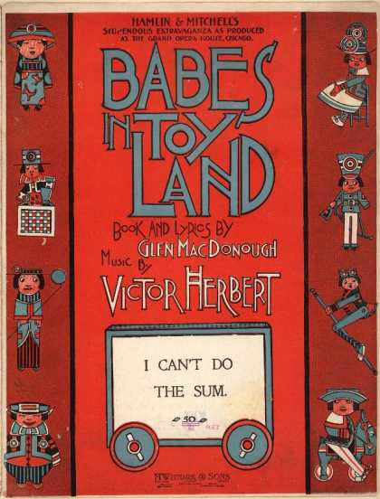 Sheet Music - I can't do the sum; Babes in toy land