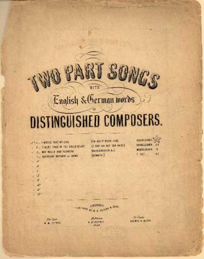 Sheet Music - O wert thou in the cauld blast; O sah' ich auf der Haide; Volkslied