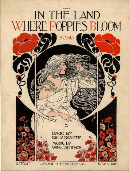 Sheet Music - In the land where poppies bloom