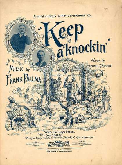 Sheet Music - Keep a' knockin'; Trip to Chinatown