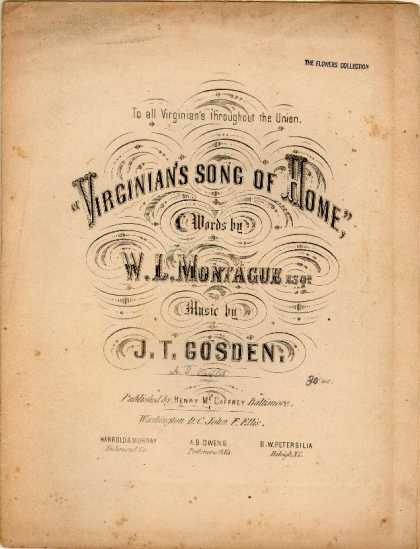 Sheet Music - Virginian's song of home