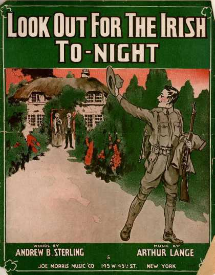 Sheet Music - Look out for the Irish to-night